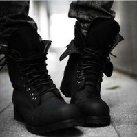 Wholesale Hot Retro Punk Combat Winter Men s boots England style Casual shoes
