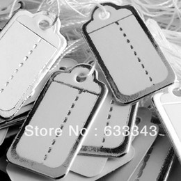Wholesale Min order lot26 mm White Silver Label Tie String Price Display Tags Jewelry Display