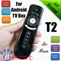 Cheap Wholesale-2.4GHz Mini Wireless Fly Gaming Air Mouse T2 for Laptop, Remote Control for Android Google TV BOX, Best Price