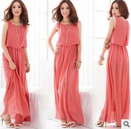 Wholesale 2015 New Hot Women Dress Womens Maxi Dresses Bohemian Chiffon Casual Dress Long Sundresses Plus Size Women Clothing XL XL