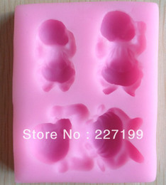 Wholesale baby shape Chocolate Candy Jello D silicone Mold Mould cake tools Bakeware Pastry bar Soap Mold