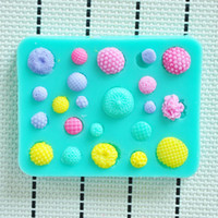 Wholesale little flower wreath shower party fondant molds silicone mold soap candle moulds sugar craft tools chocolate moulds bakeware