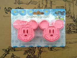 Wholesale set Minnie Mickey Mouse Cookie Cutter Cake Fondant Mould Tools