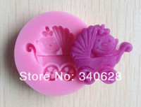 baby carriage mold - Factory baby carriage shower party silicone mold soap fondant baby mold candle moulds chocolate mold
