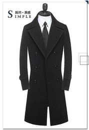 Wholesale-Free shipping men's wool coat long winter jackets european style double brested jackets fashion winter jackets 6XL A1326