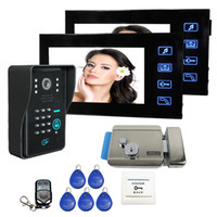 video door entry system - wired Touch Key quot Video Door Phone Intercom Entry System Code Keypad Camera Record Monitor Electric Door
