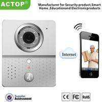 Wholesale Hot Wifi Doorbell Camera Wireless Video Intercom mobile smart phone control IP Door phone