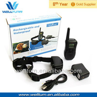 Wholesale Rechargeable and Waterproof China pet accessory manufacturers LV Shock Vibra LCD m