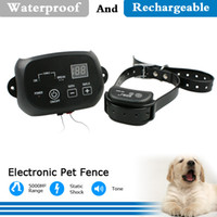 electric fence wire - Professional Shock and Sound Pet E Collar Remote Dog Collar with Electric Fence with Audible and Visual Wire Break Indicators