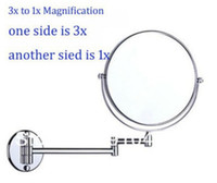 Wholesale Bathroom accessaries bath make up mirror double side x to x magnifying mirror wall mount