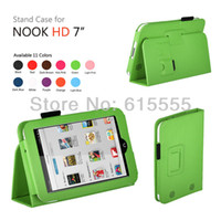 """Cheap Wholesale-11 Colors available! case cover for nook hd 7"""" with sleep function free shipping 1pcs lot. Free shiping"""