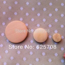 2017 trous bois Gros-bon bois Flate ronde perles en bois perles en vrac Unfinished avec trou 100ppcs / lot SMT-07 trous bois ventes