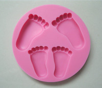 baby bar soap - Beautiful Baby foot shape Silicone D Mold Cookware Dining Bar Non Stick Cake Decorating fondant soap mold