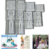 Wholesale Hot Sale Fondant D People Shaped Cake Figure Mold Family Set Human Body Decorating Mould for Creating Men Women Children