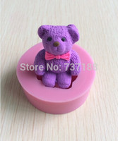 Wholesale Cute and Lovely Bear Shape Fondant Cake Molds Tools Soap Chocolate Mould Bakeware C369
