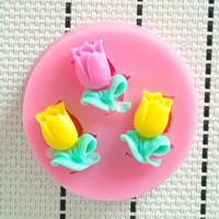 Wholesale Silicone Molds Fondant Flowers - Wholesale- 2015 NEW Lovely Flower shower party fondant molds,silicone mold soap,candle moulds,sugar craft tools,chocolate moulds