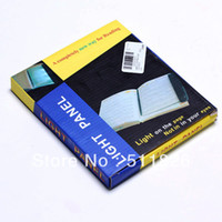 Wholesale A4 paper size flat panel LED reading light Led Kindle Lamp Case Book Glasses