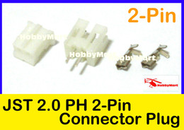 Wholesale-JST PH 2.0mm 2-Pin Female ,Male Connector Plug and Crimps x 50 Sets