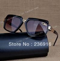 Cheap Wholesale-Top quality Cazal sunglasses MOD:6004 oversized vintage unisex Full rim 2015 Germany Free shipping with Original case free