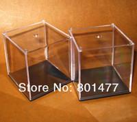 Wholesale X Clear Acrylic Display Case Toy Display Multi use Dustproof Transparent Box x7x7cm HDC3