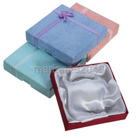 Wholesale New Square Package Bowknot Jewellery Necklace Bracelet Present Gift Box Case X9X2cm