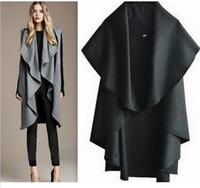 Wholesale Hot Sale Women s Fashion Wool Coat Ladies Noble Elegant Cape Shawl ladies poncho wrap scarves coat SJY143
