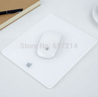 apple mouse mat - Acrylic Plexiglass Matte Surface Glass Mouse Pad Mat Design For Apple MackBook amp Mice amp Keyboards
