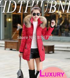 Wholesale Fashion Brand New Clothing Fur Hooded Zipper Long Style Lady Female Women Warm Down Coat Winter Parkas Coat Lady Jacket