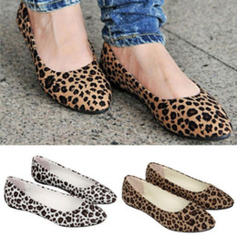 Wholesale Kllmin Womens Leopard Print Ballet Ballerina Flat Ballet Shoes colors