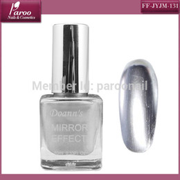 Wholesale colors Metallic mirror effect nail polish ml