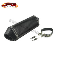 Wholesale Carbon fiber color mm Exhaust Muffler with move blow down silencer Mute Fit Motorcycle Pit Bike dirt bike