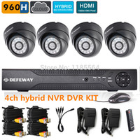 Cheap Wholesale-high resolution 4CH full 960h CCTV Security Camera System NVR KIT DVR kit HD 600TVL dome Camera Video Surveillance System