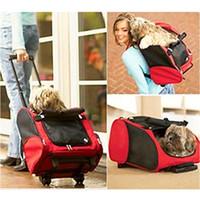 dog stroller - Pet Dog Cat Wheel Stroller Luggage Backpack Carrier Cute Cart Trolley Multi Purpose Sliding Portable Bag Best Gift