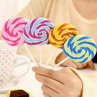 wave board - Free ship pc Super vivid color lollipop wave board sugar eraser gift erasers