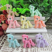 Cheap Wholesale-4Set 8PCS Free Shipping My Little Resin Pony For Cell Phone Hair Bow Decoration DIY Craft Making Embellishments