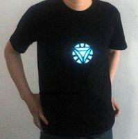 arc reactor shirt - The Avengers Tony Stark LED Iron Man Sound Activated Arc Reactor Mens T shirt