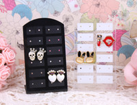 acrylic plate rack - Acrylic earrings holder pairs rack display jewelry holder stud earring plate black and white