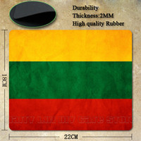 Cheap Wholesale-Best Seller Cool Lithuania Flag Silicon Anti-slip Mouse Mats for PC Computer Laptop Notbook Gaming Mouse Mat