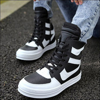 best new punk - Comfortable new fashion boots man leather high top shoes popular side zipper rivet men s best sale boots flats Punk shoes
