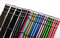 nylon straps - Retail High qulity MM nylon watchbands Nato strap waterproof Watches Accessories wrist watch band multi color for option