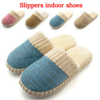 Cheap Wholesale-2015 NEW Autumn and Winter Warm Women&Men's house slippers Cotton-padded Lovers at Home Slippers indoor shoes for Family