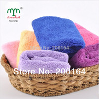 Cheap Wholesale-new 2015 kitchen towel 5pcs set 35*35cm microfibertowels toalha small towel cleaning tool car kitchen wipe ultra absorbent130018