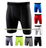 fitness wear training wear - New DRI FIT Brand Mens Sport Shorts Compression Wear Running Basketball Training Tights Fitness Trousers Plus size