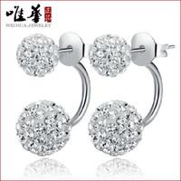 asian dresses for women - stud earrings for women sterling silver earring fashion crystal flower earrings double cc dress beautiful female