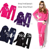 Cheap Wholesale-2015 Spring New Women Sport suit Tracksuit Casual clothing set Tracksuit for Girl Outfit Brand clothing Sweatshirts+pants