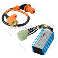 Cheap Wholesale-S103 Free Shipping 1pc Performance 6 pin Racing CDI Box +Ignition Coil For GY6 Scooter Moped 50CC 150CC