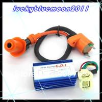 Cheap Wholesale-Free Shipping 6 pins AC CDI box + Ignition Coil For Scooter Moped QMB139 50cc -150CC GY6 ATV Go Karts 152QMI 157QMJ 50cc -150CC