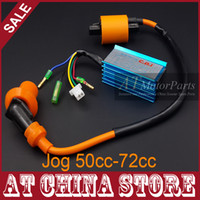 Cheap Wholesale-Jog 50cc 72cc MINARELLI 1PE40QMB Engine Scooter Moped High Performance AC Racing CDI Box + Ignition Coil