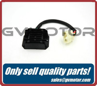 Cheap Wholesale-VOLTAGE REGULATOR RECTIFIER, 1 PLUG, 5 WIRE, 8 coils stator GY6 125cc 150cc 152QMI 15QMJ Scooter Moped Free Shipping