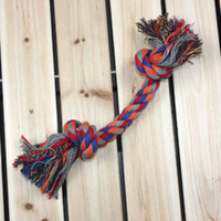 Wholesale Pet Dog Rope Toy Doubel Knots Cotton Rope Dog Chew Toys Clean Teeth Toys for Pet Dogs Single cm